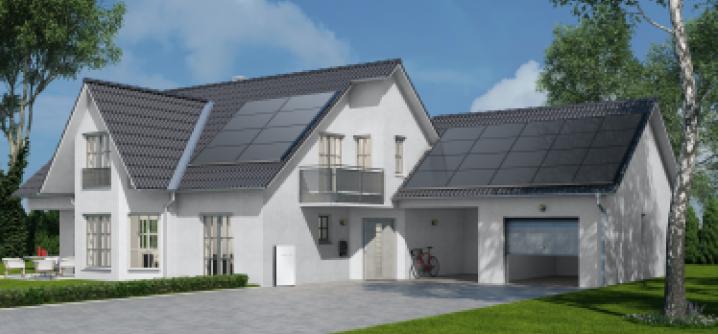 Home Roof Solar Panels Prototype