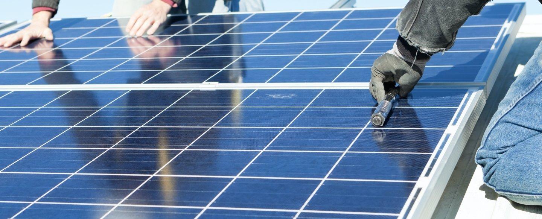 Solar Panel Team Working