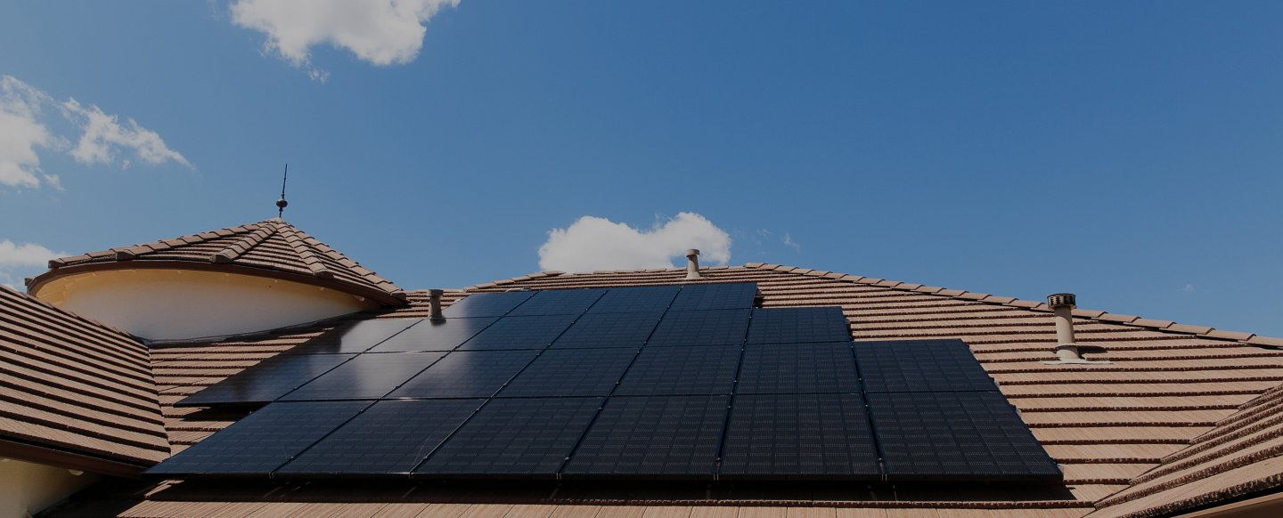 home roof solar panels example